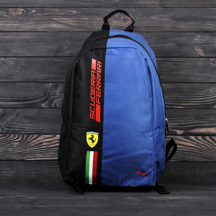 Спортивный, городской рюкзак Puma Scuderia Ferrari, пума. Феррари. Синий Vsem