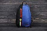Спортивный, городской рюкзак Puma Scuderia Ferrari, пума. Феррари. Синий Vsem, фото 3