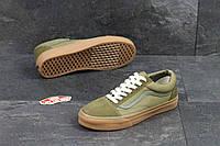 Кроссовки мужские оливковые Vans Old School 4999