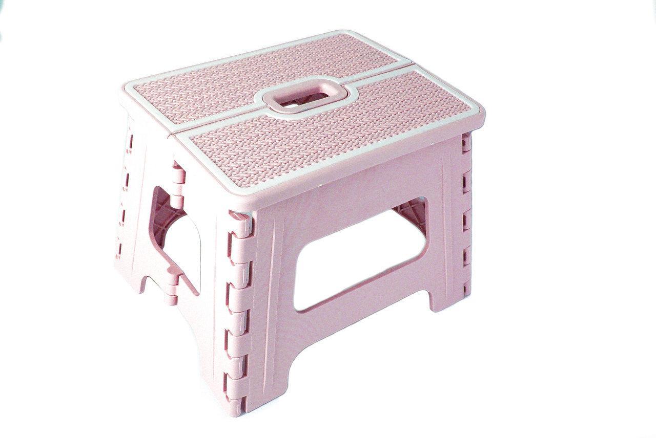 Табурет раскладной Stenson R87945 30х24х22 см, розовый