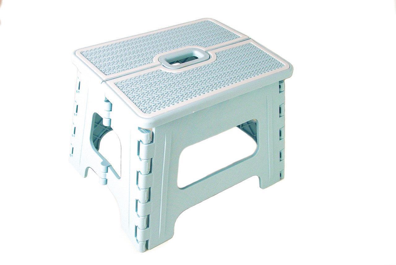 Табурет раскладной Stenson R87945 30х24х22 см, голубой