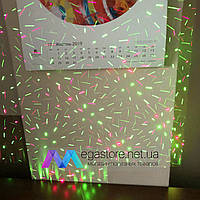 Лазерный проектор диско новогодний LED Mini Laser Stage Lighting BN-09 лазер шоу для праздников снежинки