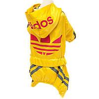 """Дождевик для собак Multibrand """"Adidas"""" желтый"""