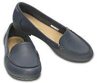 Туфли школьные для девочки мокасины лоферы Кроксы Колорлайт оригинал / Crocs Marin ColorLite Loafer Темно-синий, 36, фото 1