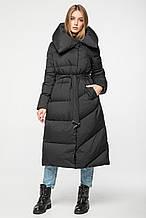Женский зимний пуховик-одеяло с капюшоном CLASNA CW19D556DW_#701 черный