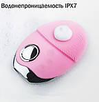 Ультразвуковая щетка для лица Doc-team brush LED щетка силиконовая электрическая для чистки массажа, фото 6