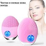 Ультразвуковая щетка для лица Doc-team brush LED щетка силиконовая электрическая для чистки массажа, фото 7