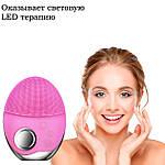 Ультразвуковая щетка для лица Doc-team brush LED щетка силиконовая электрическая для чистки массажа, фото 8