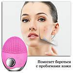 Ультразвуковая щетка для лица Doc-team brush LED щетка силиконовая электрическая для чистки массажа, фото 3