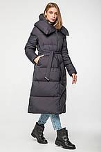 Женский зимний пуховик-одеяло с капюшоном CLASNA CW19D556DW_#736_графит
