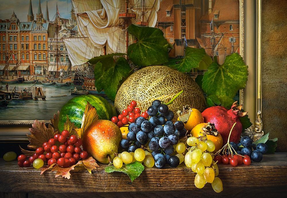 Пазлы Натюрморт с фруктами, Still Life with Fruits на 1500 элементов