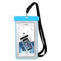 """Водонепроникний чохол Terrex для підводної зйомки на смартфон до 6.5"""" флуоресцентний синій, фото 1"""