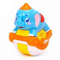 Музыкальная развивающая игрушка неваляшка для малышей 3105ABC