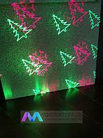 Лазерный проектор диско новогодний LED Mini Laser Stage Lighting BN-6H лазер шоу для праздников елочки