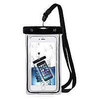 """Водонепроницаемый чехол Terrex для подводной съемки на смартфон до 6.5"""" флуоресцентный черный, фото 1"""