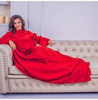 Плед з рукавами Snuggie червоний