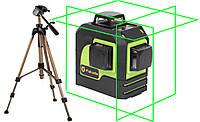 Лазерный уровень (нивелир) Fukuda 3D MW-93T зеленый луч +штатив 1,4м