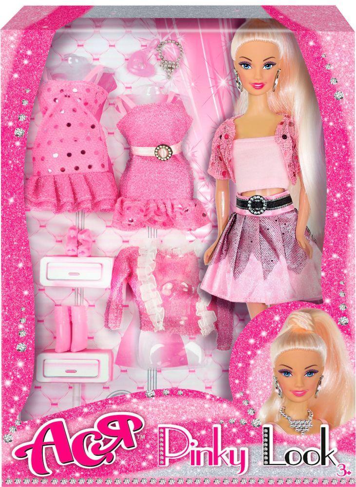 Кукла Ася  блондинка  Розовый стиль   28 см     35080