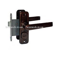 Ручка-защелка Тандем ЗЩ-4А с фиксацией (Медь)