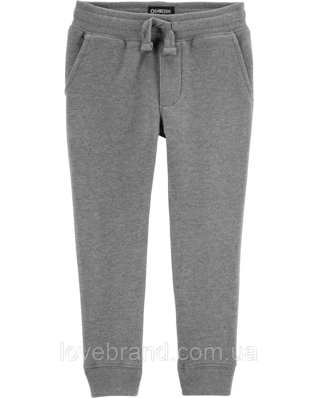 Теплые спортивные штаны для мальчика OshKosh, джоггеры на флисе