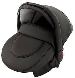 Автокресло Adamex Carlo кожа 100% черный (0-13 кг)