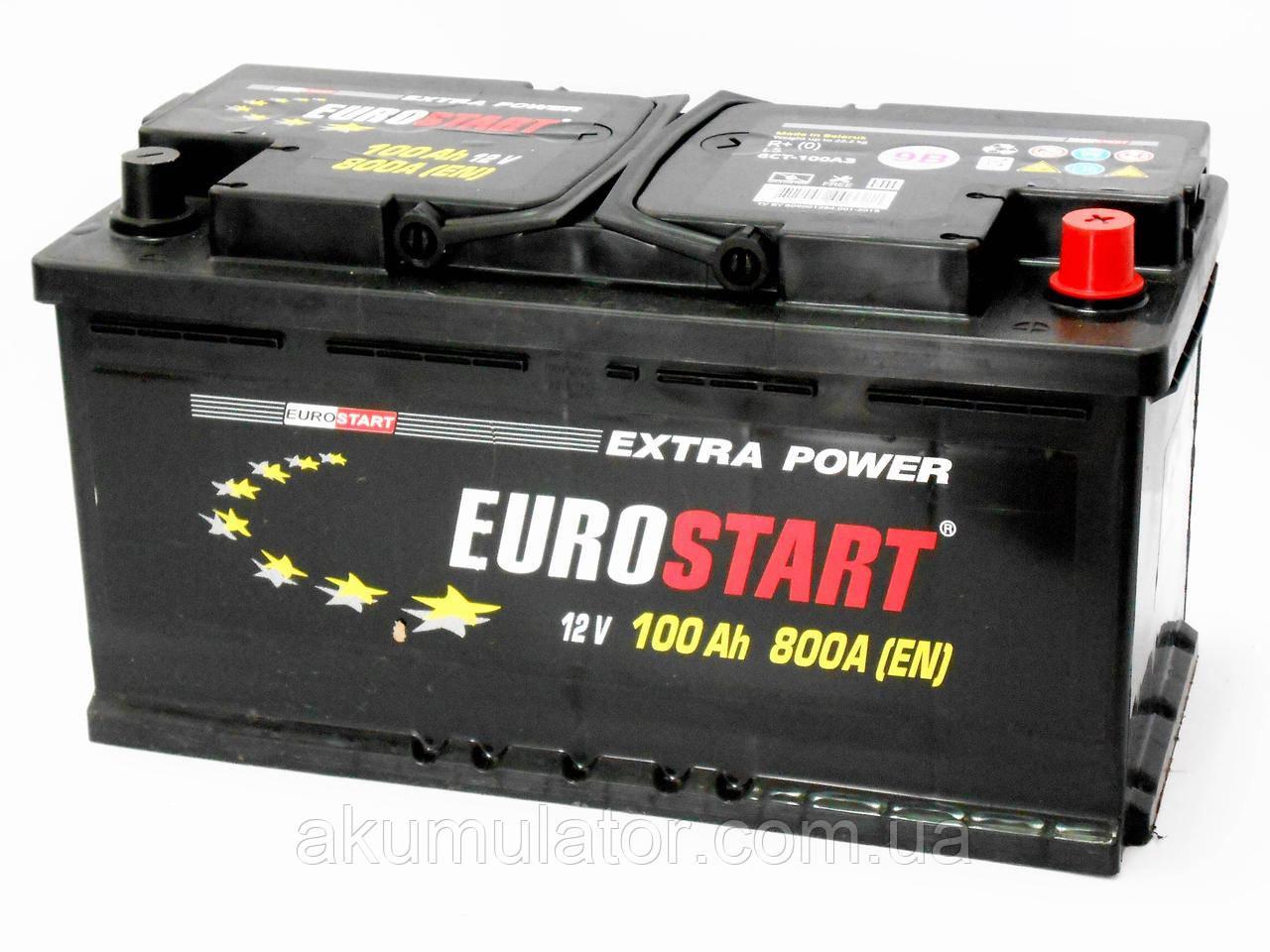 Акумулятор автомобільний EUROSTART 100 (R+)