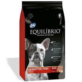 Сухой корм для собак, склонных к аллергии Equilibrio Dog Sensitive Skin с рыбой 15 кг