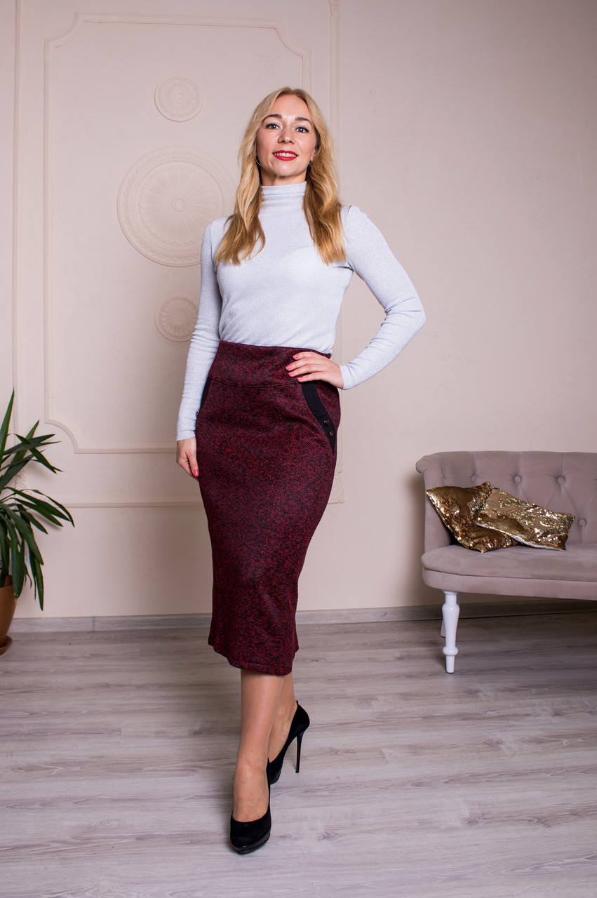 Женская юбка Янина бордо