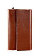 Клатч на кнопках кожаный светло-коричневый BN-TK-5-1-k, фото 1