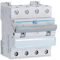 Дифференциальный автоматический выключатель Hager (ДАВ) 4P 6kA C-40A 300mA Hi (AFH490H)