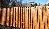 Деревянный забор горизонтальный для дачи LNK