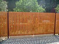 Деревянный забор  для дома LNK