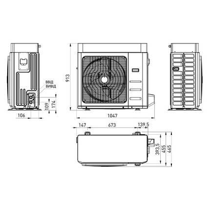 Тепловой насос моноблок Sime SHP M EV 010 KA 10 кВт, фото 2