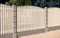 Деревянный забор  для дачи LNK