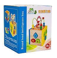 Деревянная развивающая игрушка-сортер цифры+лабиринт