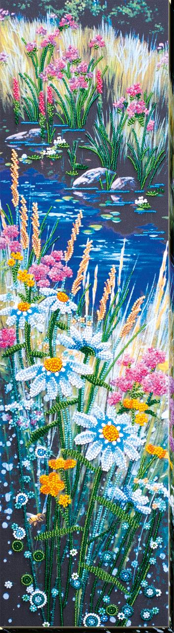 Набор для вышивки бисером Ромашковый этюд-2 (15 х 60 см) Абрис Арт AB-541