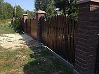 Деревянный забор сплошной LNK