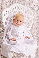 Красивый крестильный набор для мальчика (комбинезон), без крыжмы