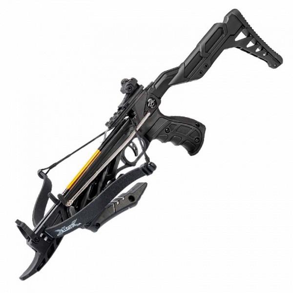 Арбалет пістолетного типу Man Kung MK-TCS2BK (довжина: 620мм, сила натягу: 18кг), чорний