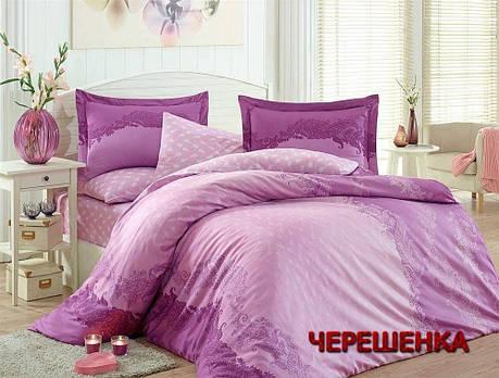 """Ткань для постельного белья Бязь """"Gold"""" Lux GL526 (50м) с вензелями, фото 2"""