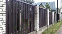 Деревянный забор вертикальный LNK Company