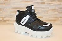 Ботинки зимние черные С852