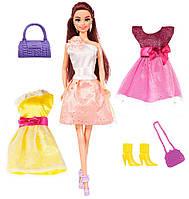 Лялька Ася брюнетка з 3 вбранням та аксесуарами, Яскравий в моді 28 см 35138, фото 1