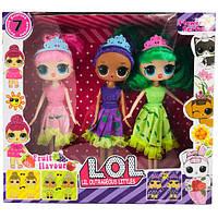 L.O.L LiL Otrageous Littels три куклы Лол с волосами