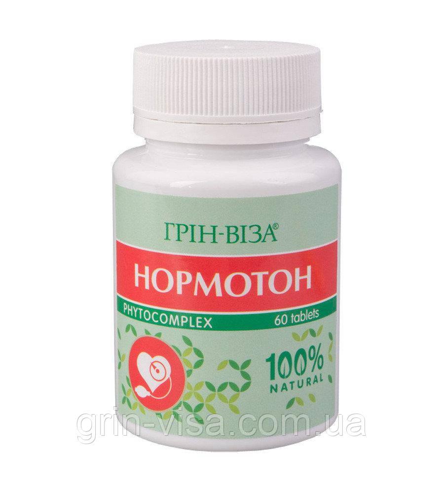 Натуральные таблетки Нормотон Грин-Виза | нормализация давления | 60 штук