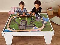 Игровой стол c деревянной железной дорогой PlayTive Junior 89 елементов