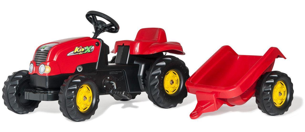 Трактор с прицепом Trailer красный от 2 лет 12121