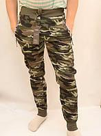 Теплые зимние штаны на флисе камуфляж