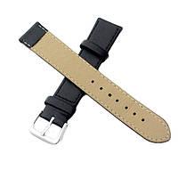 Ремешок для наручных часов 18 мм эко кожа черный матовый пряжка оригинальный подарок прикольный