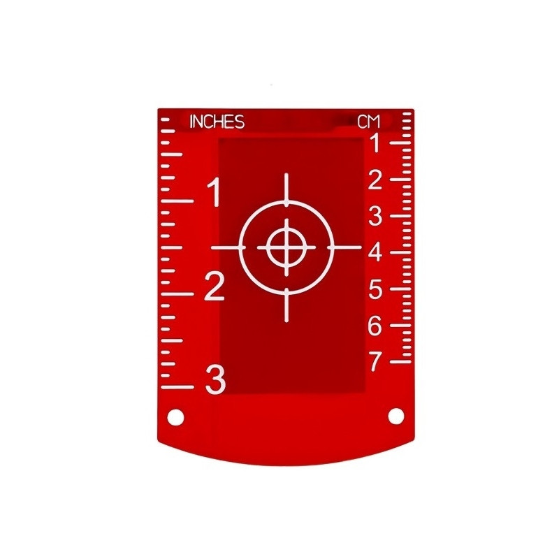 Магнитная лазерная мишень (рефлектор) красная MR107